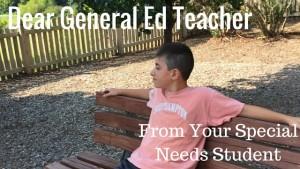 Dear General Ed Teacher