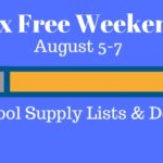 Save The Date- Sales Tax Holiday/Tax-Free Weekend