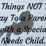 6 Things NOT To Say To a Parent with a Special Needs Child.