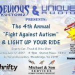 "The 4th Annual ""Fight Against Autism"" LIGHT UP YOUR RIDE Charity Car, Truck & Bike Show Hosted by Devious Kustomz and Unique Audio"
