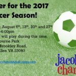 Register Now For Jacob's Chance Soccer Season- Players & Volunteers