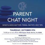 Parent Chat Night: Mindfulness Matters: Teens, Tactics, & Tips
