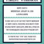Free Parent Workshop: Individualized Education Program (IEP)