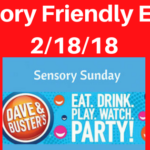 Dave & Busters Sensory Friendly Event Feb 18, 2018