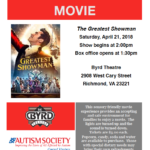 Sensory Friendly Movie at The Byrd Theatre: The Greatest Showman