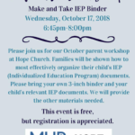 Free Parent Workshop: Make & Take IEP Binder