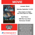 Sensory Friendly Movie at The Byrd Theater: Jurassic World
