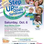Register for DSAGR's Step UP for Down Syndrome 5K & Family Festival by September 21:  Beat the price bump and get a free 5K t-shirt!