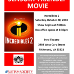 ASCV Sensory Friendly Movie at The Byrd: Incredibles 2