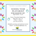 DSAGR Hosts Hands Up Playgroup Every Thursday Through December 13th