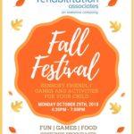 Rehabilitation Associates to Host Sensory Friendly Fall Festival on October 29th
