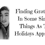 Finding Gratitude In Some Simple Things As The Holidays Approach