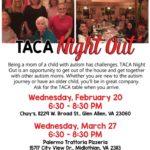 Upcoming TACA Meetings