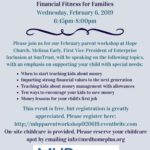 MHP'S Free Parent Workshop on February 6th