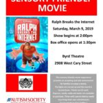 ASCV's March Sensory Friendly Movie at The Byrd Theatre: Ralph Breaks the Internet