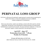 Perinatal Loss Group – Free to Attend