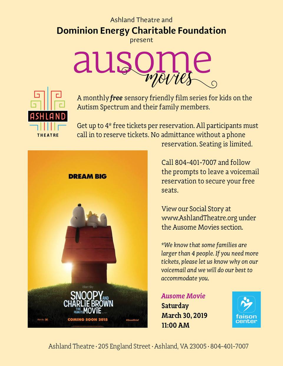 Making Theater Autism Friendly >> Sensory Friendly Movie On March 30 Knowdifferent Net