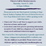 Medical Home Plus' March Parent Workshop: When to Call for Reinforcements