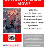 ASCV's April Sensory Friendly Movie at The Byrd Theatre:  Spider-Man Into the Spiderverse
