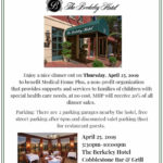 Medical Home Plus Restaurant Fundraiser at The Berkeley Hotel
