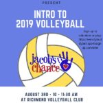 Jacob's Chance Events= Register For Volleyball