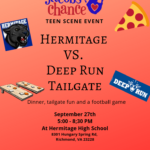 Jacob's Chance Teen Scene: Hermitage Vs. Deep Run Football Tailgate