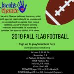 Jacob's Chance Fall Flag Football