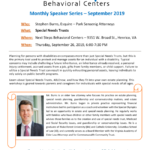 Next Steps Behavioral Centers' September Monthly Speaker: Stephen Burns – Special Needs Trusts