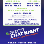 CKG Foundation's Mindful Monday and Parent Chat Nights