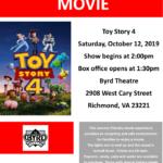 ASCV's Sensory Friendly Movie at The Byrd: Toy Story 4