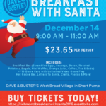 Dave & Buster's Breakfast With Santa!