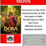 ASCV's Sensory Friendly Movie at The Byrd: Dora and The Lost City of Gold