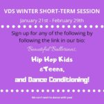 Village Dance Studios' Winter Short Term Session Begins January 21st