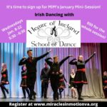 Register for Miracles in Motion's January Mini-Session: Irish Dancing