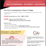 """Free Lunch & Movie Screening of """"Autism Goes To College"""""""