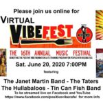 Virtual Vibefest 2020- Positive Vibe – June 20, 2020