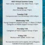 ASCV'S Virtual Programming Week Of 7/27/20