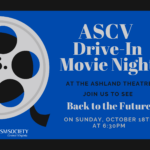 ASCV Drive-In Movie at Ashland Theatre – RESCHEDULED 10/18