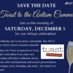 ASCV Save The Date – Virtual Toast To The Autism Community